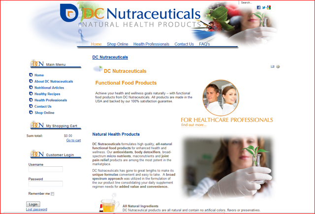 DC Nutraceuticals Natural Nutritional Functional Health Food Suppliments