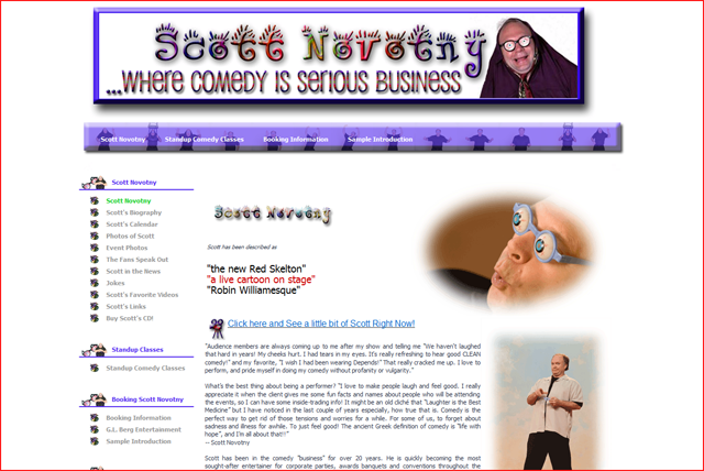 Scott Novotny - Stand Up Comedian and Former Saturday Night Live writer