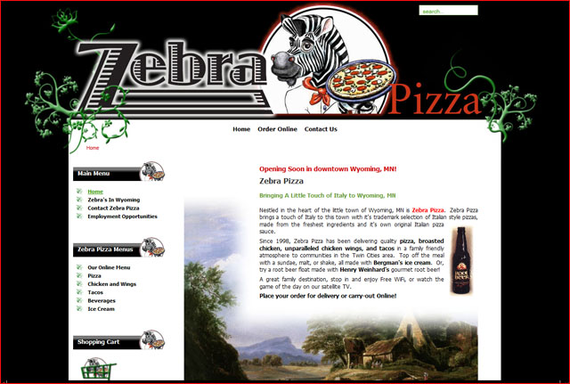Zebra Pizza, Wyoming, MN